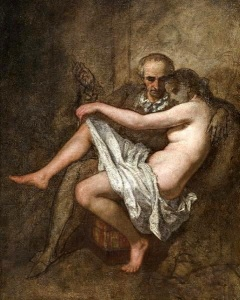 Baudelaire and his muse by Thomas Couture