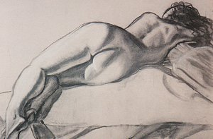 s.sommers: Reclining nude